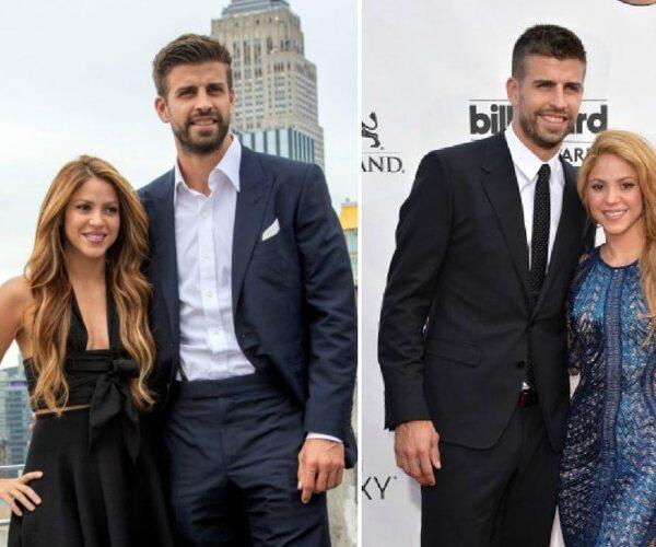 Gerad Piqué (1,94m) Y Shakira (1,57m)