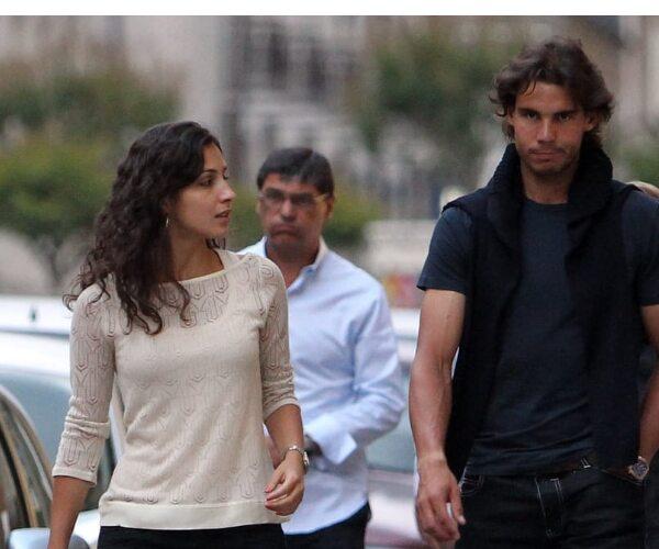 Rafael Nadal (1,85m) Y Xisca Perelló (1,67m)