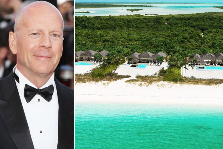 Bruce Willis – Parrot Cay, Turks & Caicos Island, $4.95K A Night