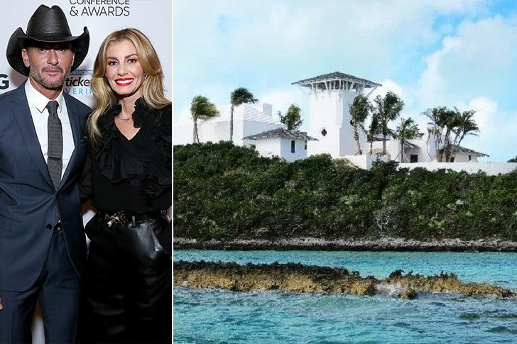 Tim McGraw & Faith Hill – Goat Cay, $1.2 Million