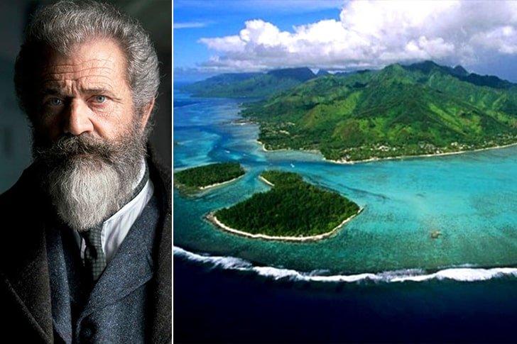 Mel Gibson – Mago Island, $15 Million