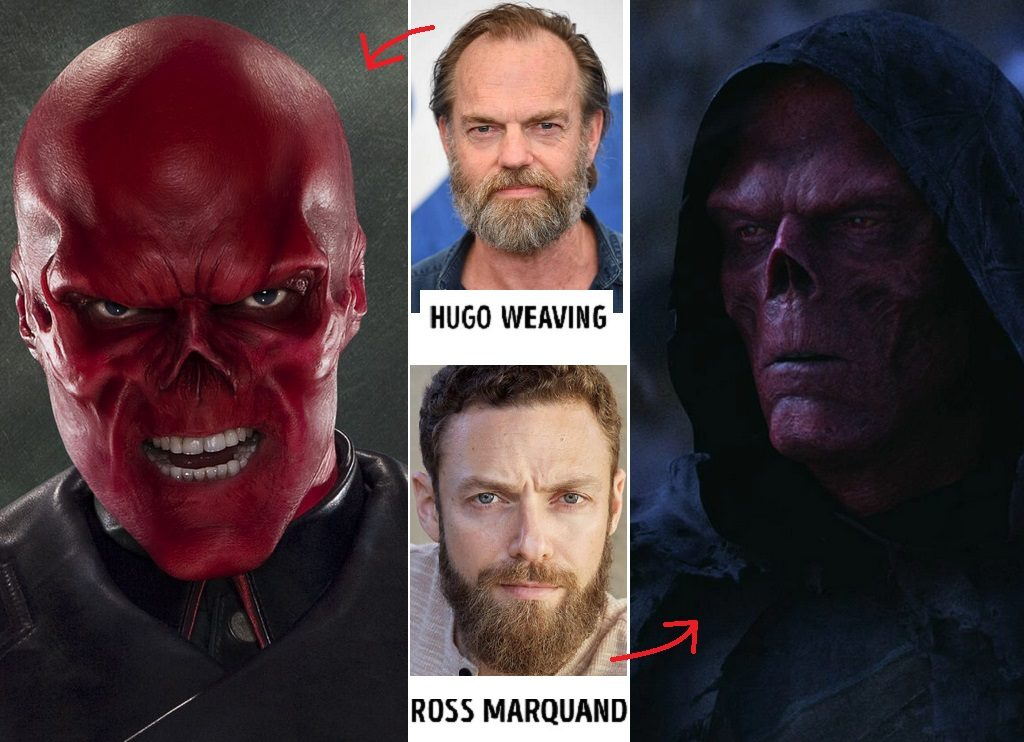 Johann Schmidt, Red Skull — Hugo Weaving, Ross Marquand