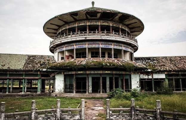 Gbadolite, República Democrática do Congo - Palácio de Bambu
