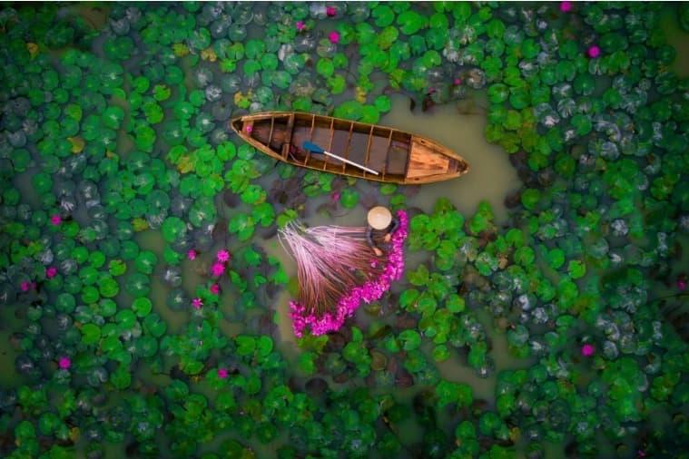 연못과 여인
