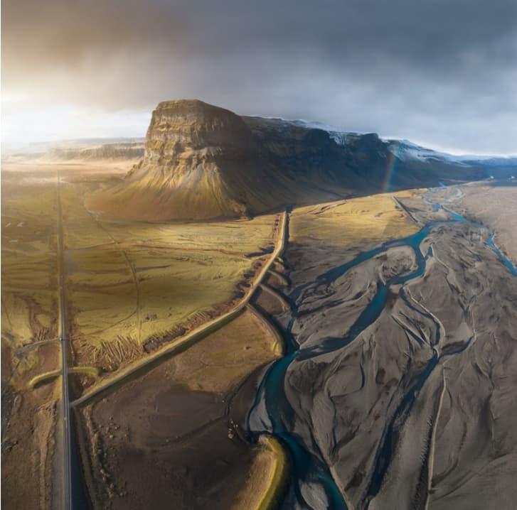 아이슬란드의 광활한 대지