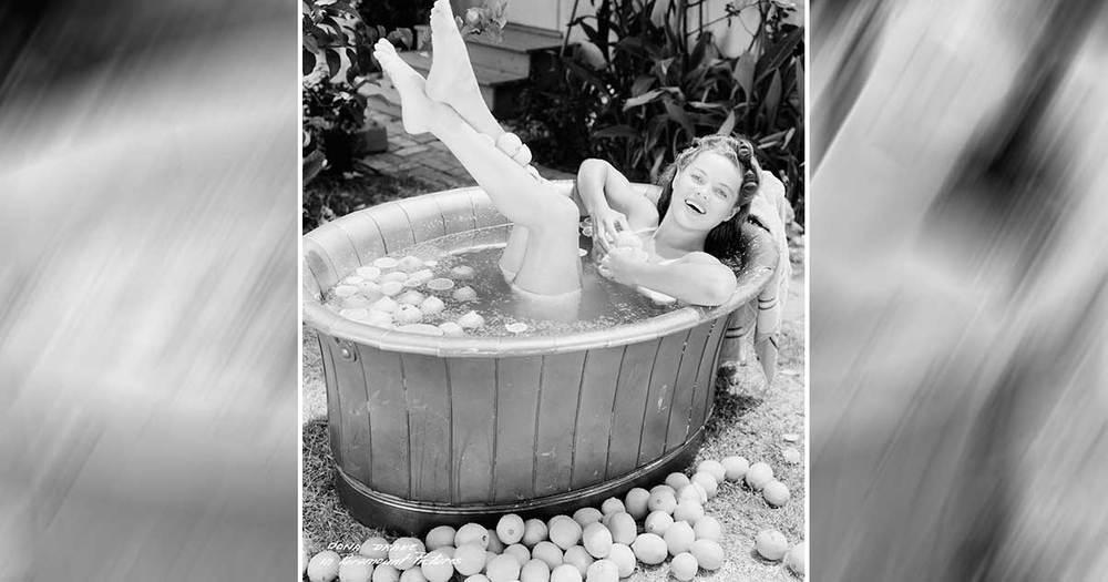 Dona Drake Takes A Dip