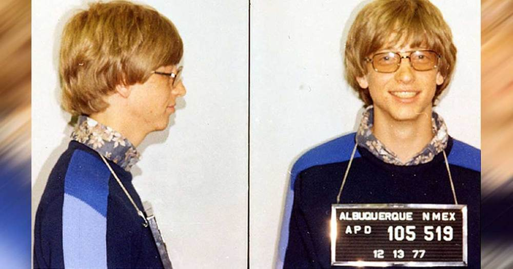 Bill Gates With His Famous Mugshot