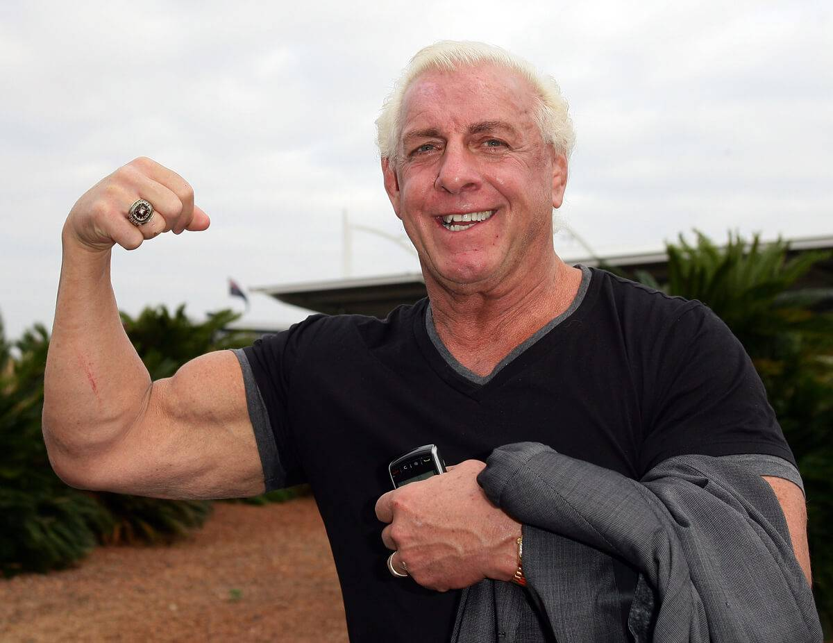Andre And Ric Flair Drained A Plane Of Its Vodka Stock