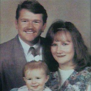 Bobbi e Kenny McCaughey con la loro prima figlia