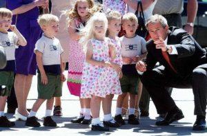 I gemelli col Presidente Bush