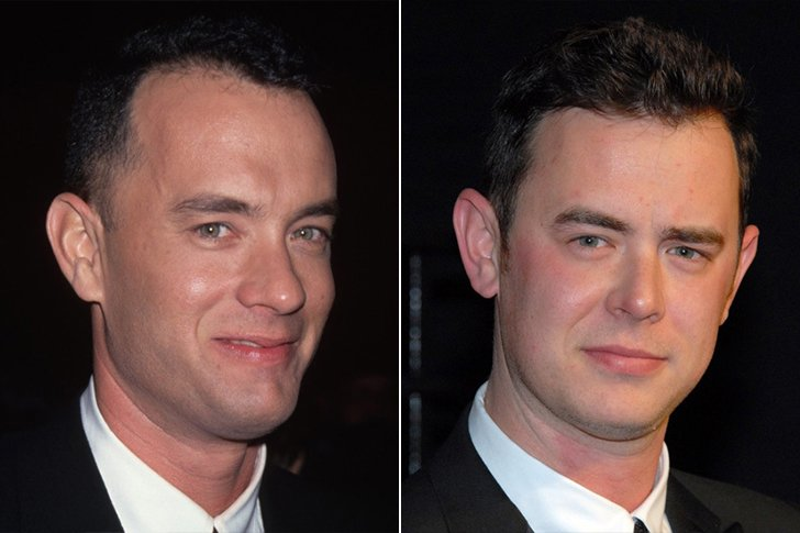 Colin Hanks And Tom Hanks At Age 25