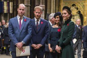 William, Kate, Harry e Meghan