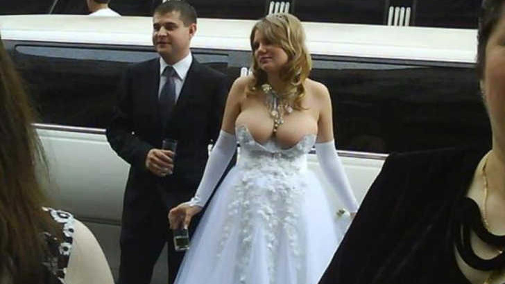 Inappropriate Wedding Gown
