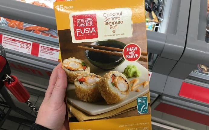 Tiefgefrorenes Sushi