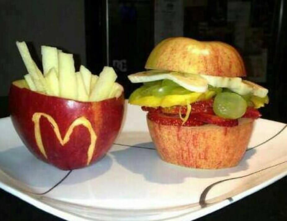 건강한 버전의 맥도날드 세트
