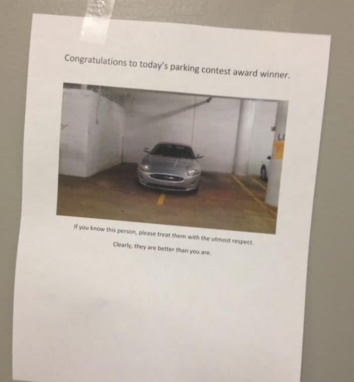 Parking Contest Winner