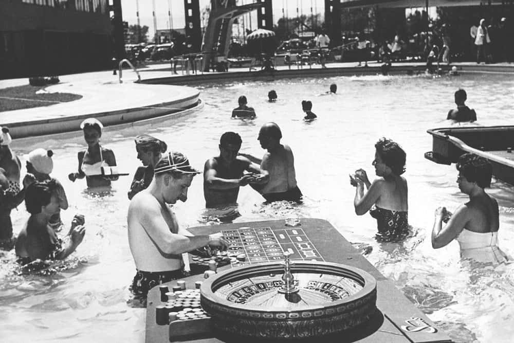 An Early Las Vegas Pool Party