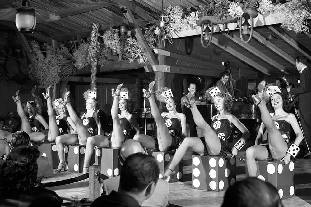 An Early Performance By Las Vegas Showgirls