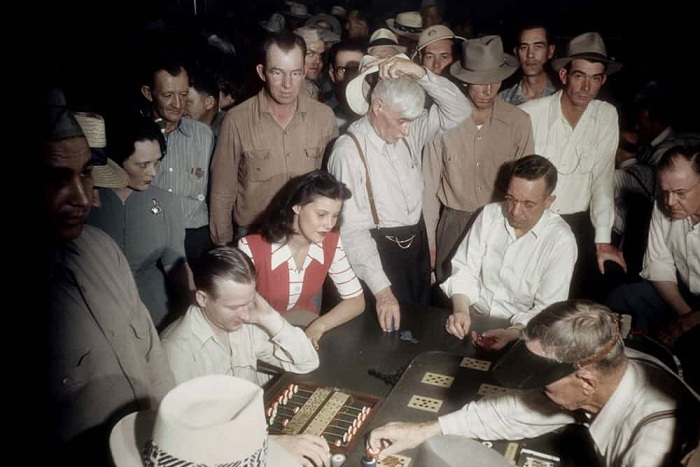 A Crowded Gambling At El Rancho