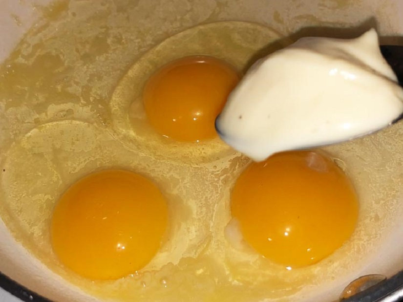 Sahanda Yumurta Yapımı