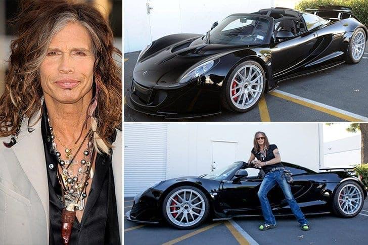 Steven Tyler Avec Sa Hennessey Venom GT Spider
