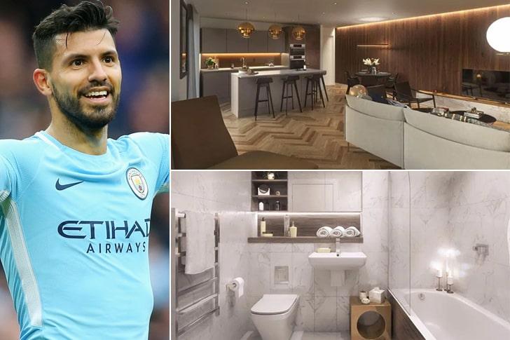 Sergio Agüero – Apartamento em Manchester, Inglaterra ($5 Milhões)