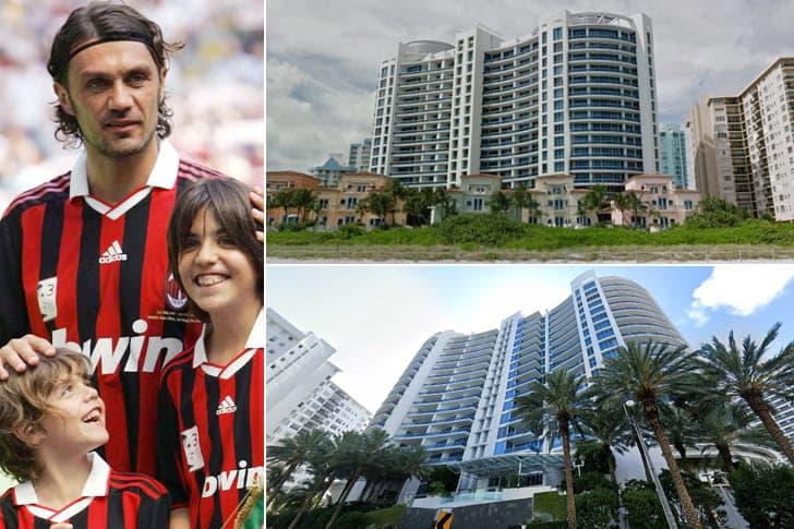 Paolo Maldini – Casa em Miami, Estados Unidos (Valor Não Revelado)