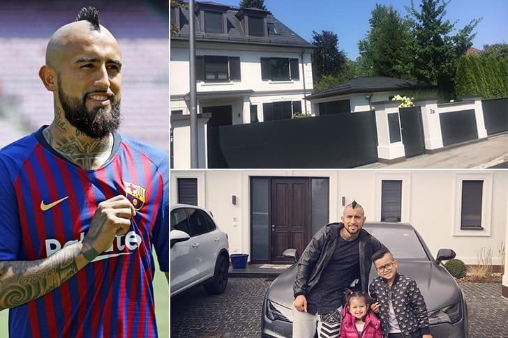 Arturo Vidal – Casas em Turim, Itália ($30.000 Por Mês)
