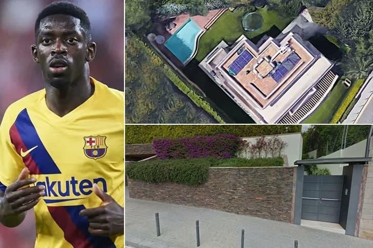 Ousmane Dembélé – Mansão em Barcelona, Espanha ($15.000 Por Mês)