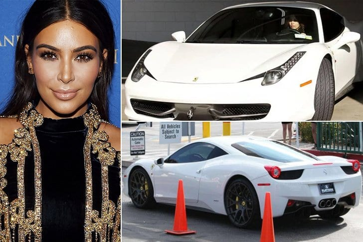 Kim Kardashian Avec Sa Ferrari Italienne