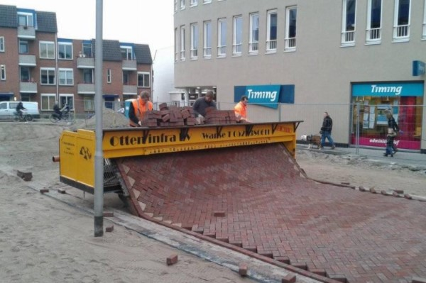 Bricks Being Laid In The Netherlands