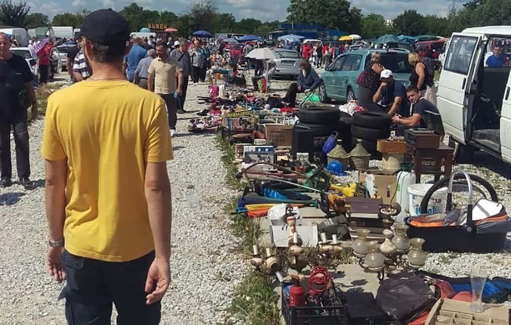 The Flea Market Was Right Across The Street