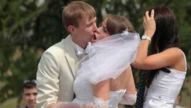 Peinlicher Hochzeitskuss