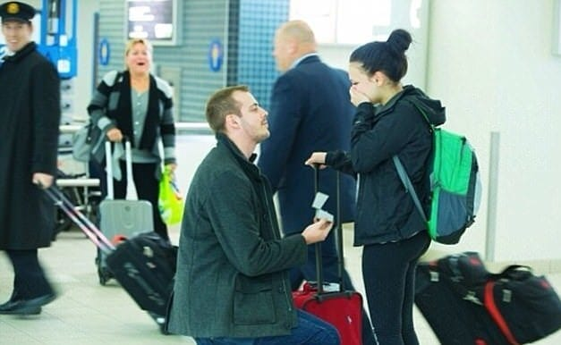 Proposing At The Airport