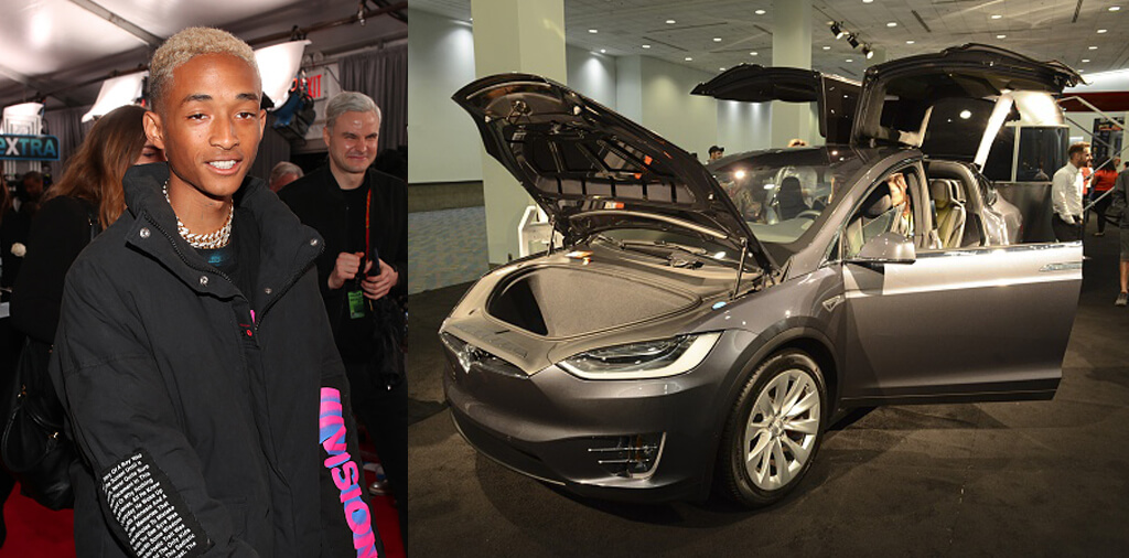 Jaden Smith's Tesla With Falcon Wing Door
