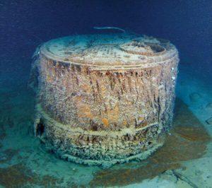 Il boiler della nave