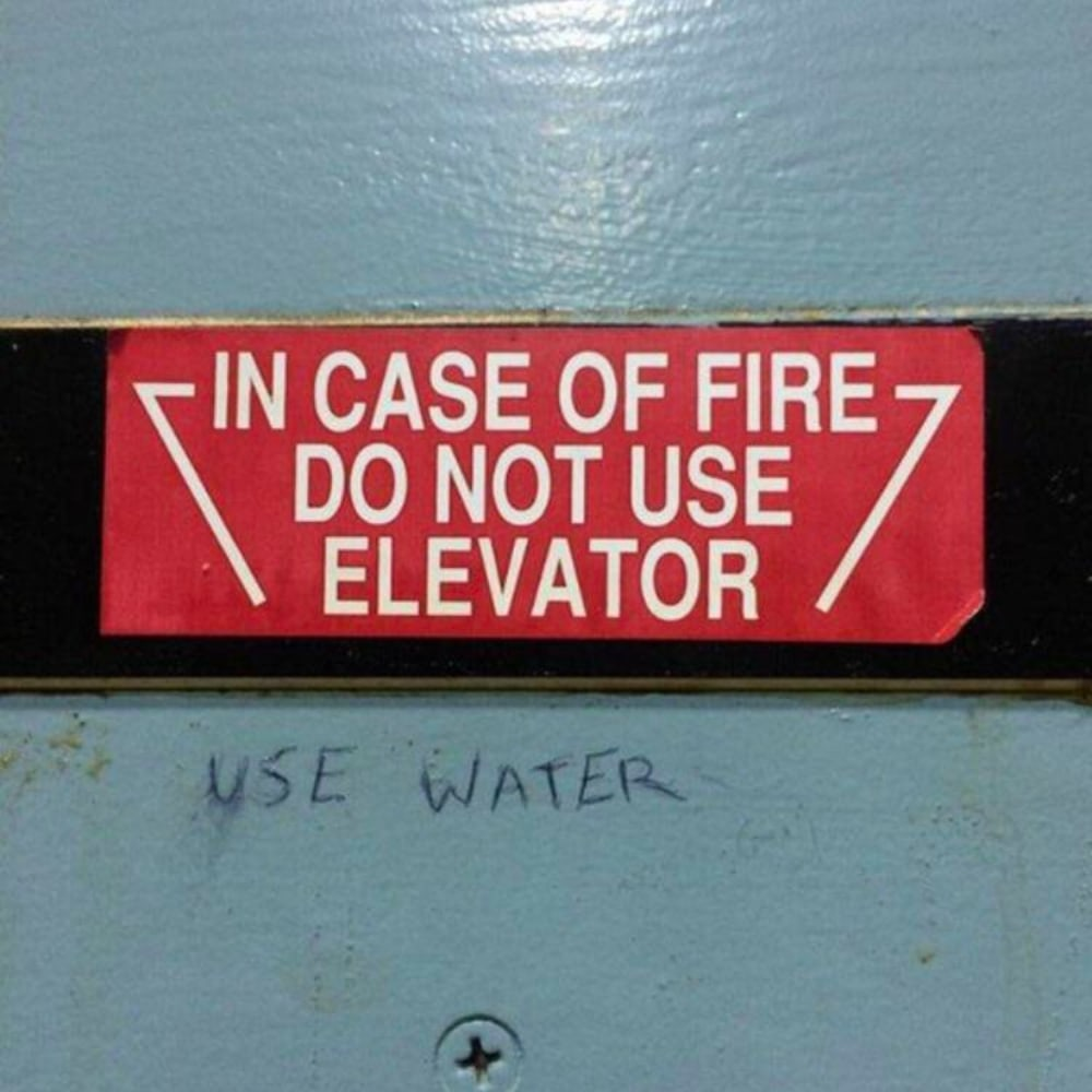 Do Not Use The Elevator