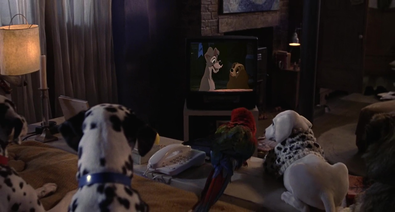 102 Dalmations – The Lady And The Tramp Scene