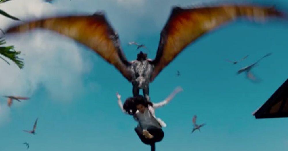 Jurassic World – Pterodactyl Attack Scene
