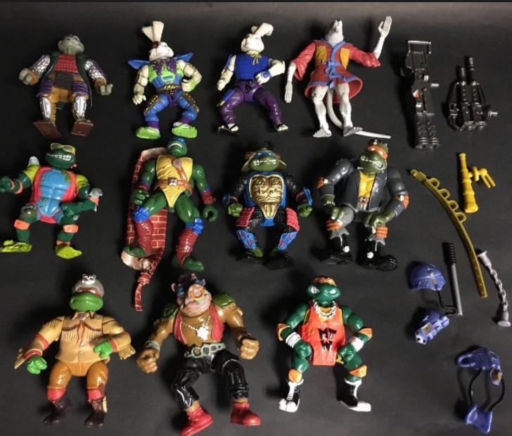 Teenage Mutant Ninja Turtles 1980's Actions Figures