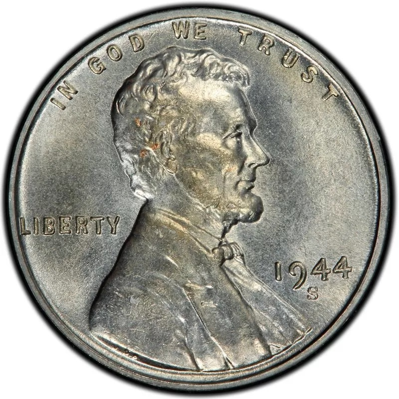 1944 S Lincoln Steel Penny Front