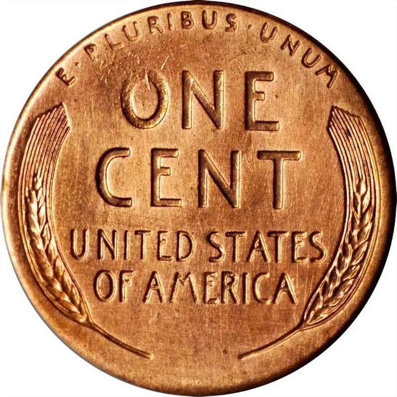 1958 Doubled Die Obverse Lincoln Penny Front Back
