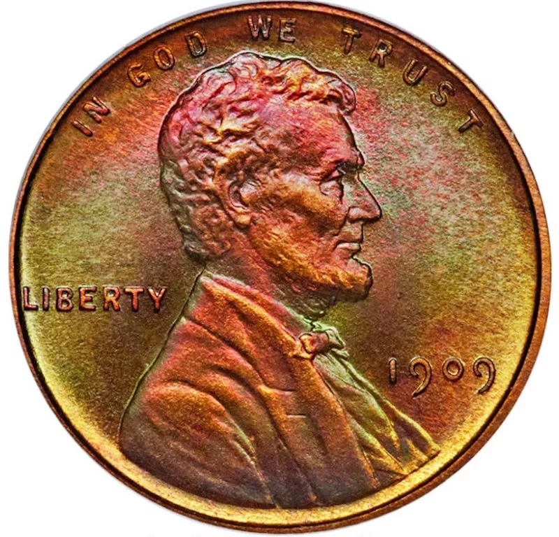 1909 V.D.B. Matte Proof Lincoln Penny Front