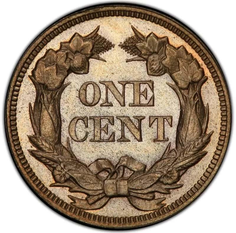 1856 Flying Eagle Penny Front Back