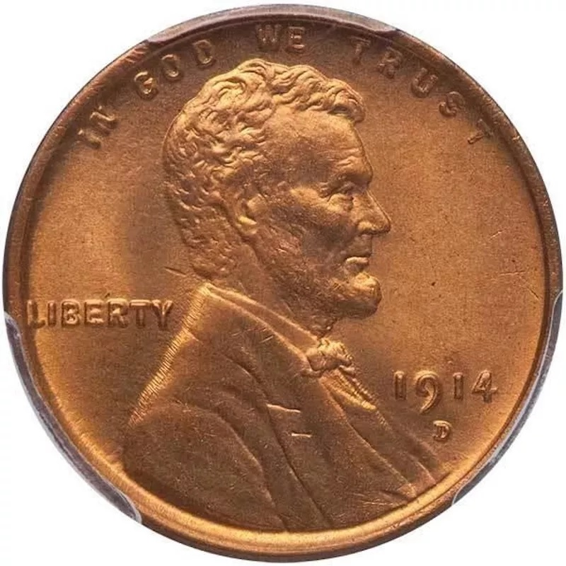 1914 D Lincoln Penny Front