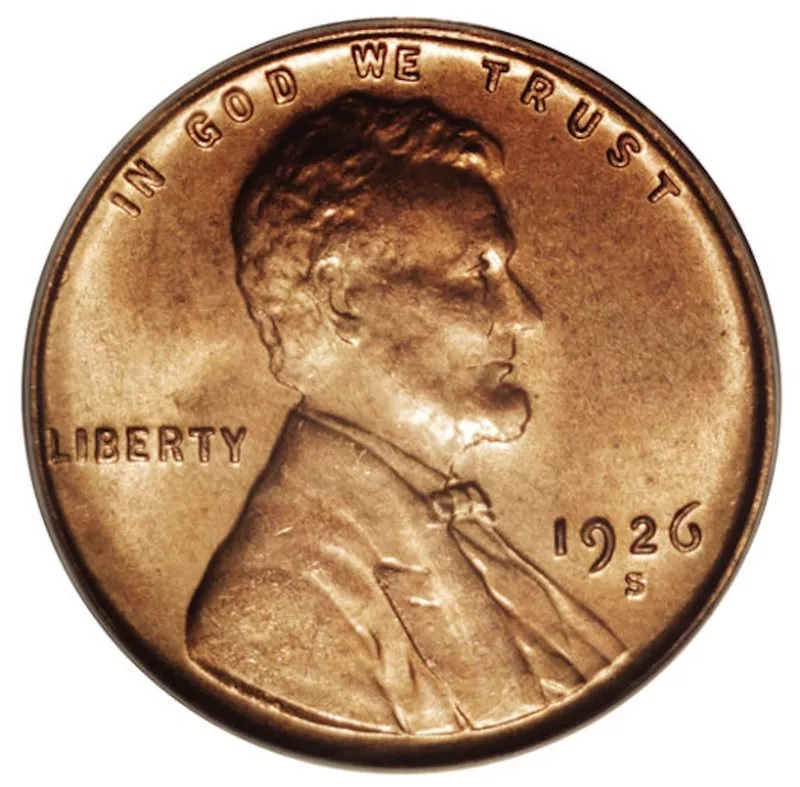 1926 S Lincoln Penny Front