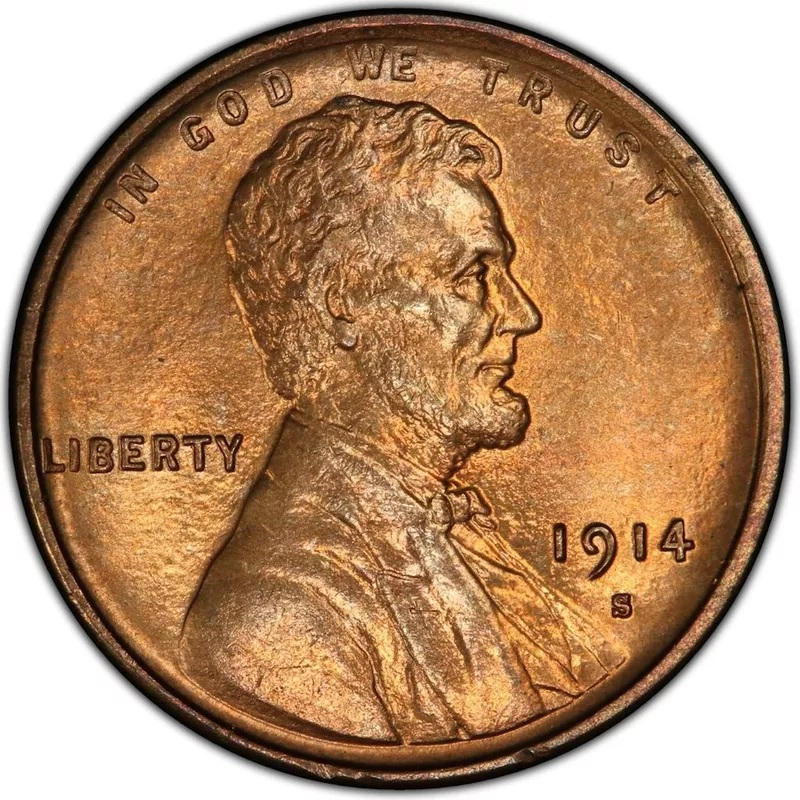 1914 S Lincoln Penny Front