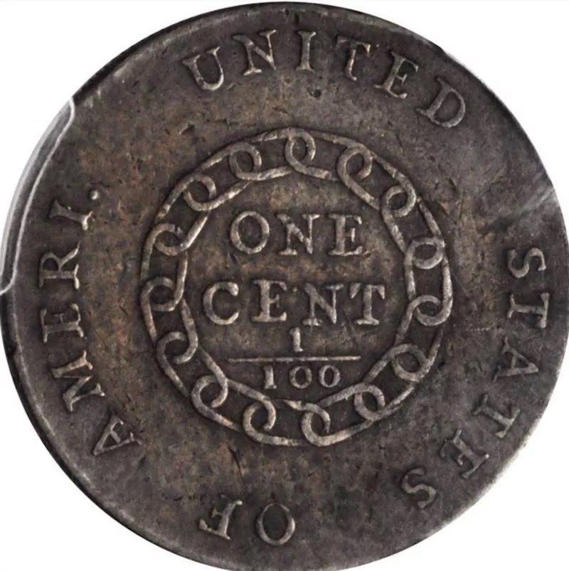 1793 Flowing Hair Liberty Cap Large Cent Penny Back