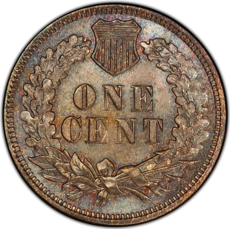 1873 Doubled 'Closed 3' Indian Head Penny Back