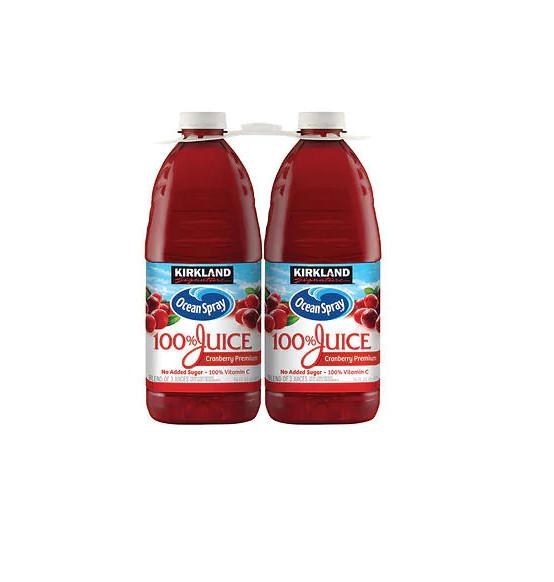 Kirkland Signature Ocean Spray Cranberry Juice Ocean Spray